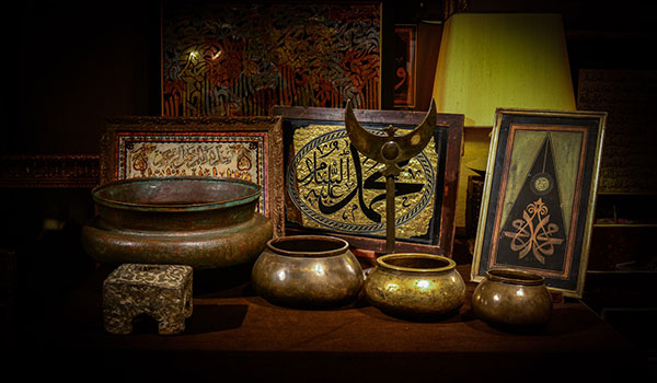 Still life with Islamic objects