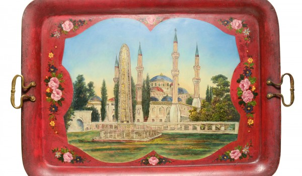 Hand-Painted Metal Tray