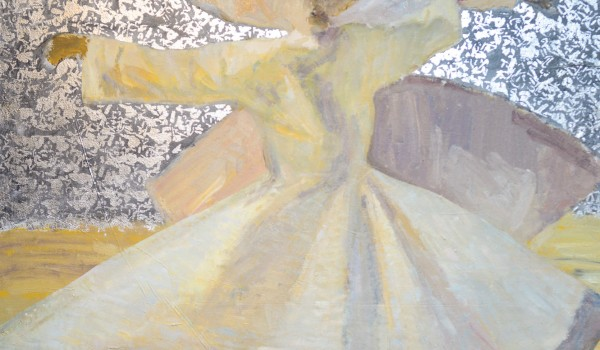 Contemporary Whirling Dervish Painting